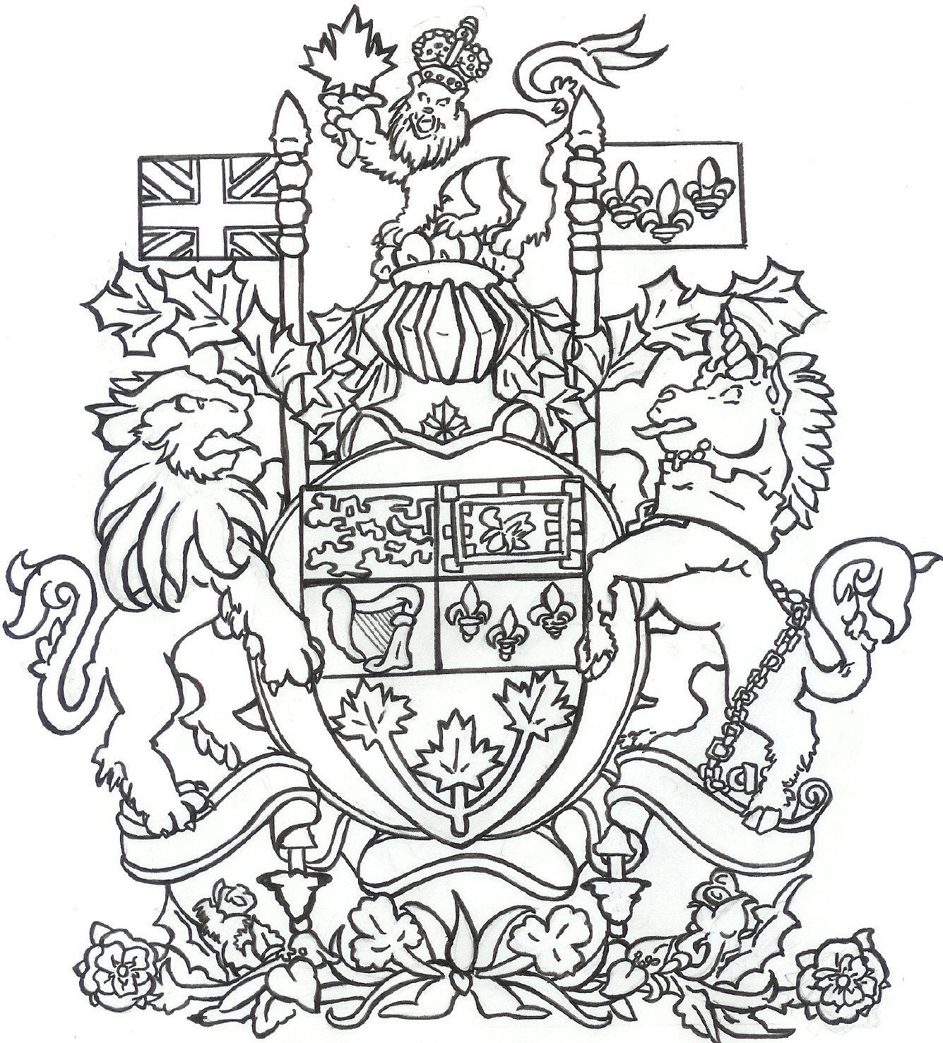 1335x1476 A Coat Of Arms. By Sunshinecrayon
