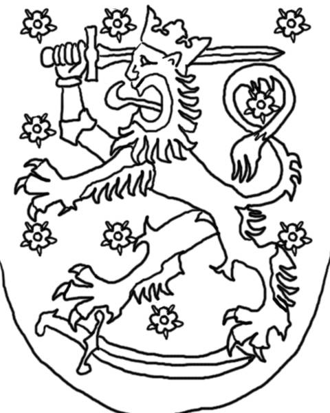 480x600 How To Draw The Finnish Coat Of Arms