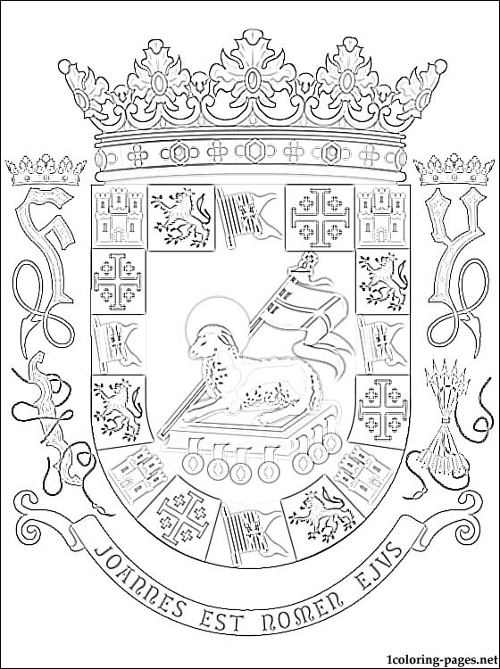 560x750 Puerto Rico Coat Of Arms Coloring Page Coloring Pages