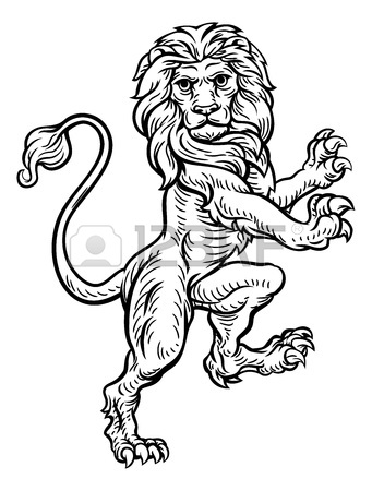 341x450 Unicorn And Lion Heraldic Coat Of Arms Crest Royalty Free Cliparts