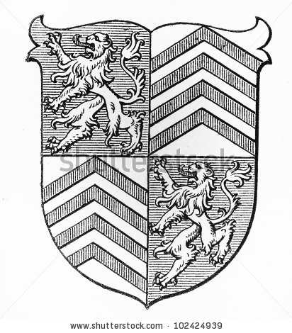412x470 Stock Photo Vintage Drawing Of Torgan Coat Of Arms