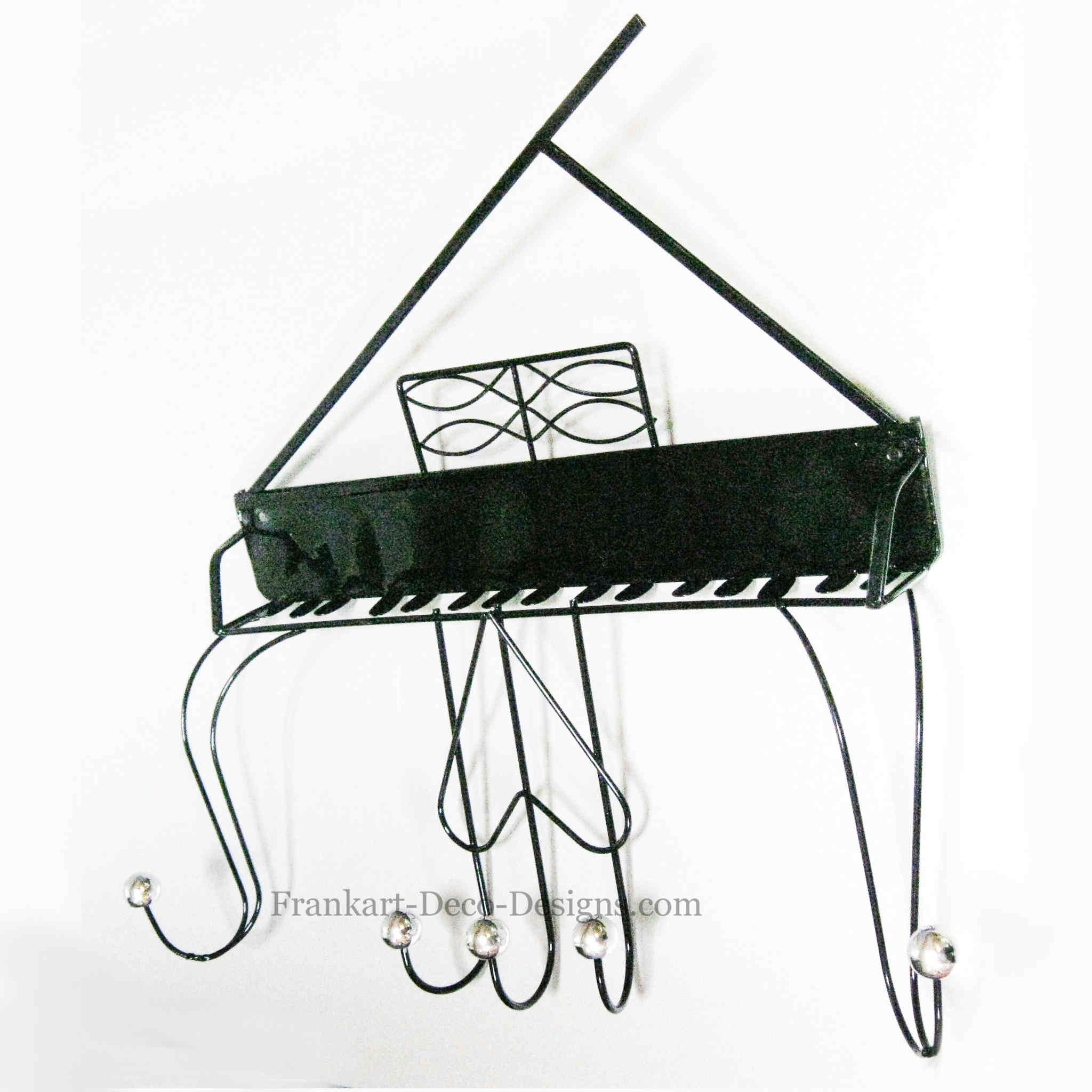 2048x2048 Grand Piano 19 Eames Style Steel Sculpture Wall Coat Rack Grand