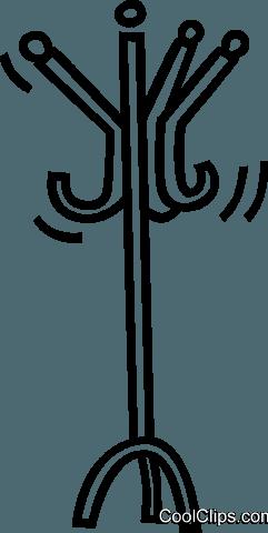 241x480 Coat Rack Royalty Free Vector Clip Art Illustration Vc036857