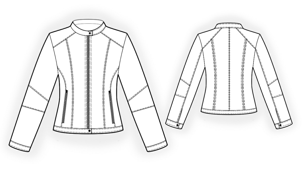 1231x759 Jacket With Stand Collar