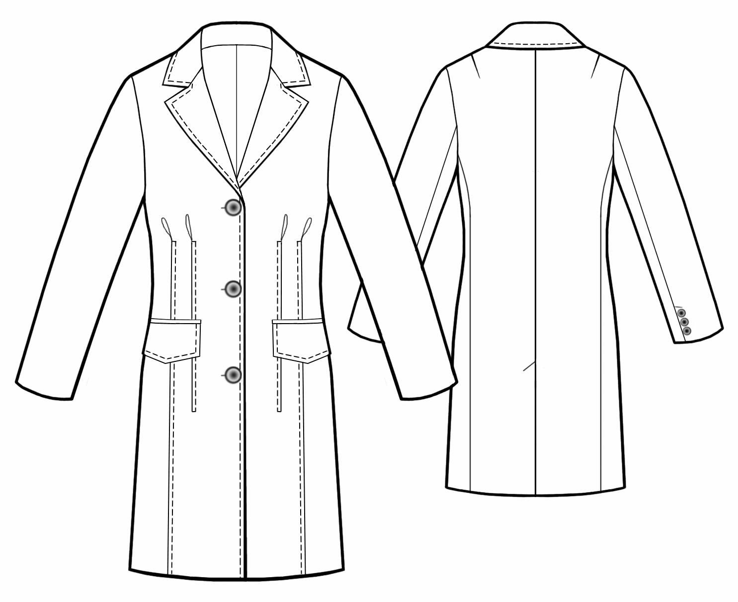Coat Technical Drawing at GetDrawings.com | Free for personal use ...