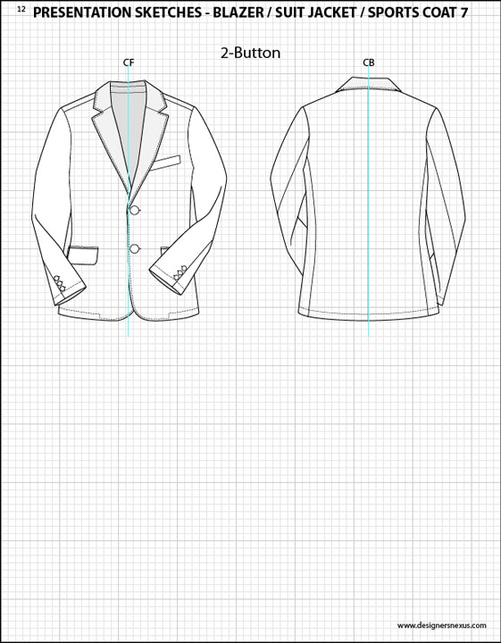 561x720 Mens Flat Fashion Sketch Templates