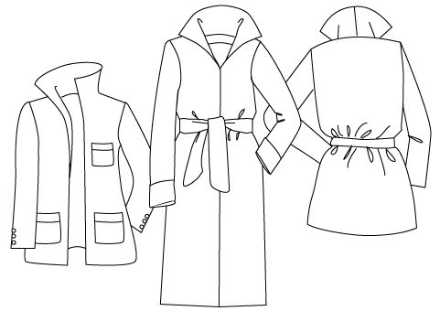 481x340 Sewing Patterns, Download The Roll Collar Coat Sewing Pattern