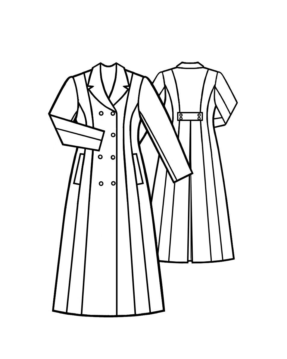 953x1190 Women Long Coat