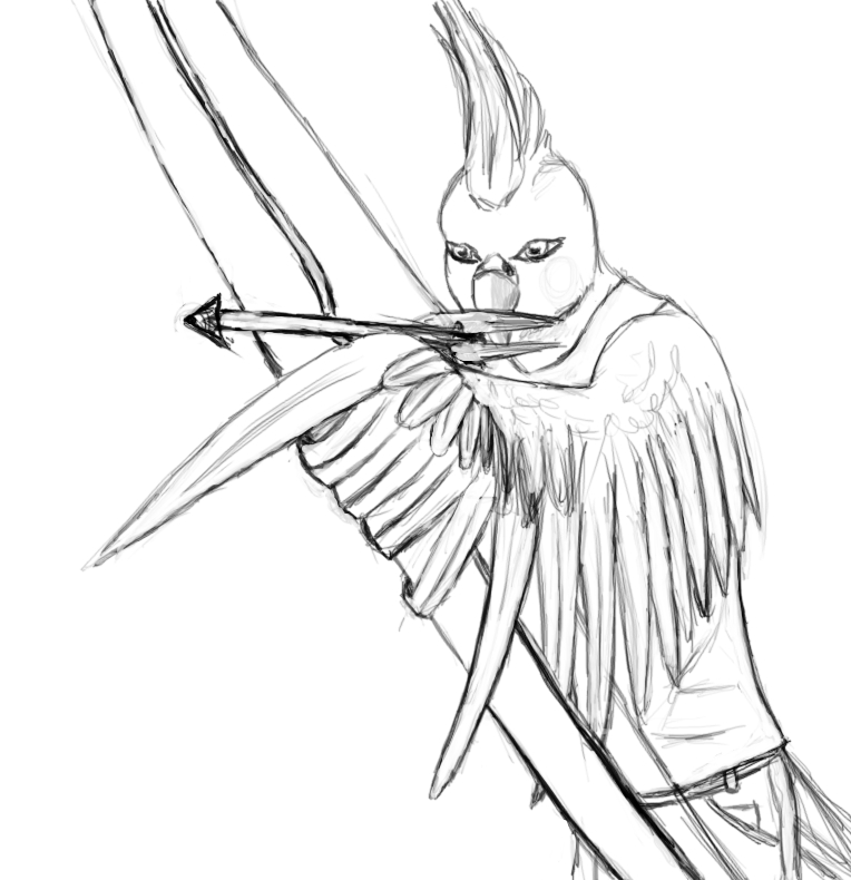 764x790 Cockatiel Archer Outline By Mlizgr