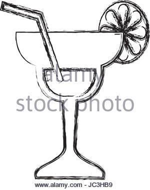 300x379 Glass Lemon Draw Illustration Stock Vector Art Amp Illustration