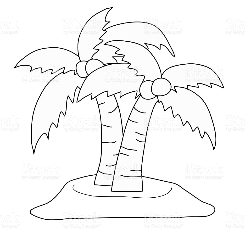 1024x1024 Coconut Tree Drawing