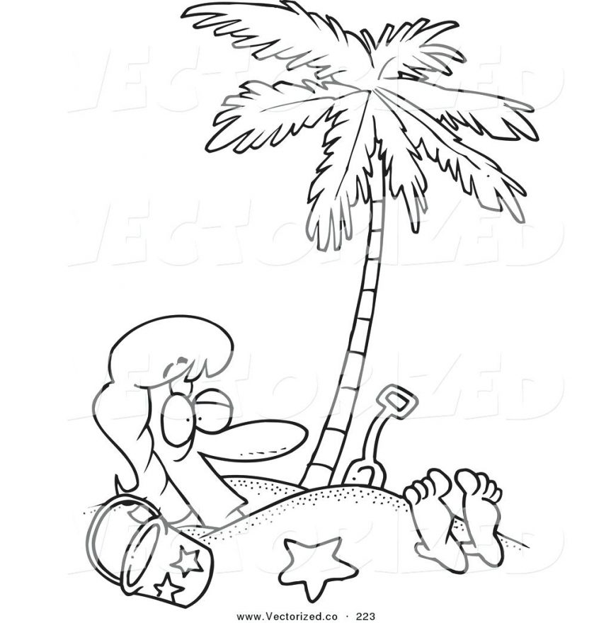863x880 Click The Red Pine Tree Coloring Pages Coconut Palm Page Sabal