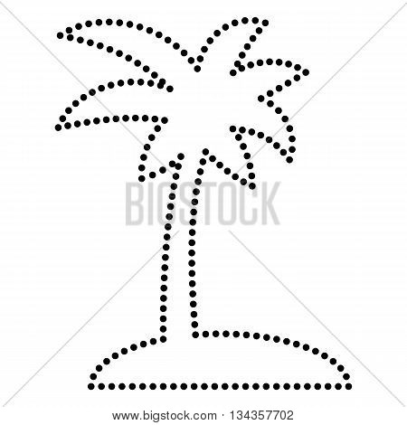 450x470 Coconut Palm Tree Sign. Dot Style Vector Amp Photo Bigstock