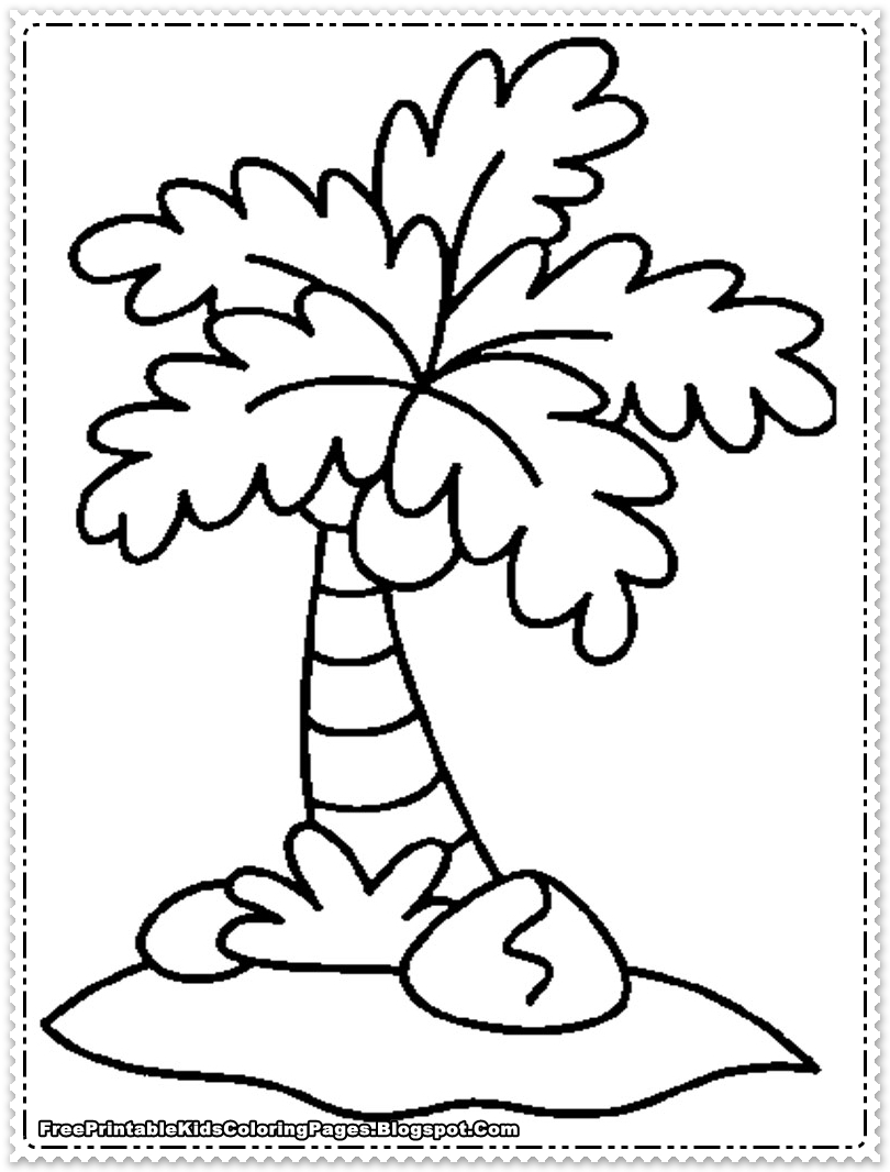 Coconut Tree Line Drawing at GetDrawings | Free download