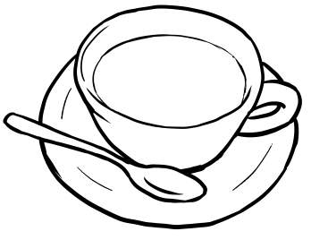 348x268 Draw A Cup Of Coffee In Cartoon Humor Cups, Coffee