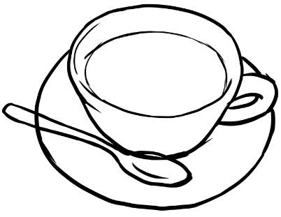 402x311 Easy Way To Draw A Cup Of Coffee Drawing Talk
