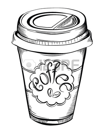 366x450 Hot Coffee Disposable To Go Cup With Lids And Label With Coffee