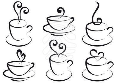 400x280 Drawn Tea Cup Coffee
