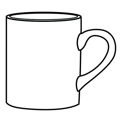 500x500 Coffee Cup Coloring Pages Coffee Mug Coloring Page Coffee Mug