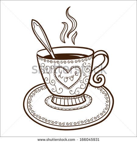 450x470 Drawn Teacup Coffee Cup