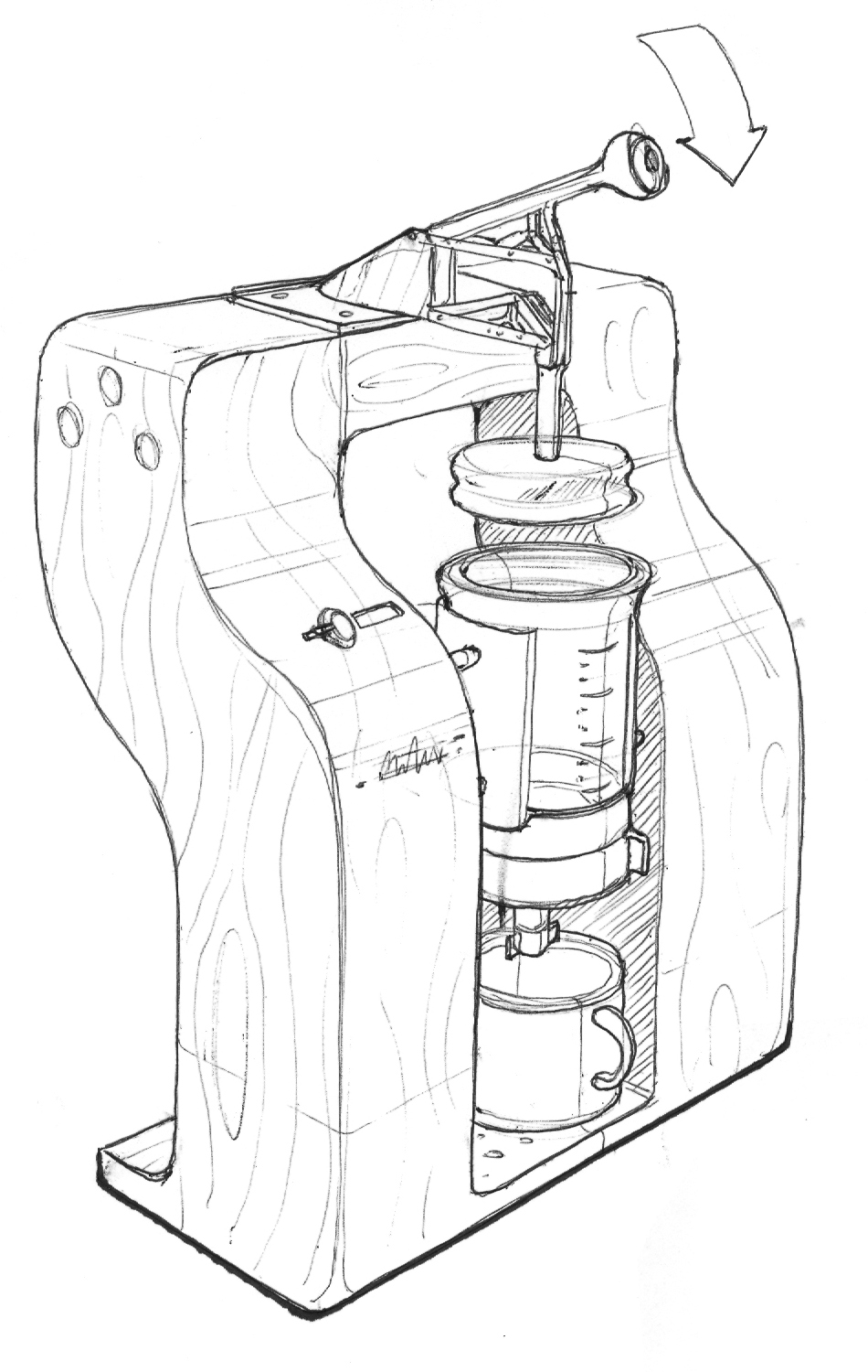 Coffee Maker Drawing