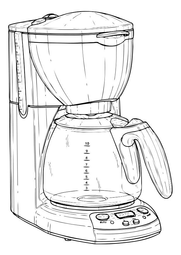 620x875 Coloring Page Coffee Machine