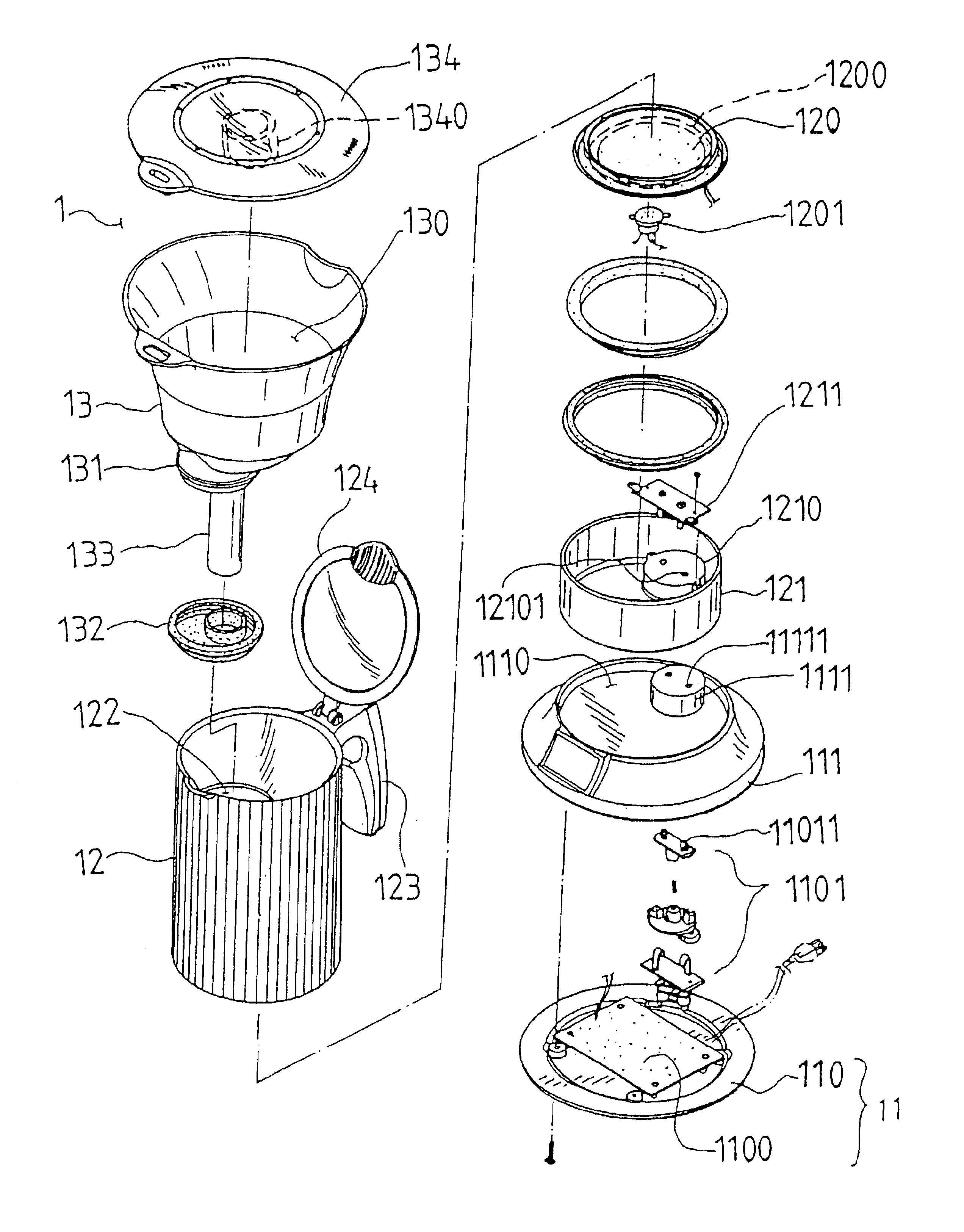 2544x3251 Coffee Maker Exploded View Product Deconstruct