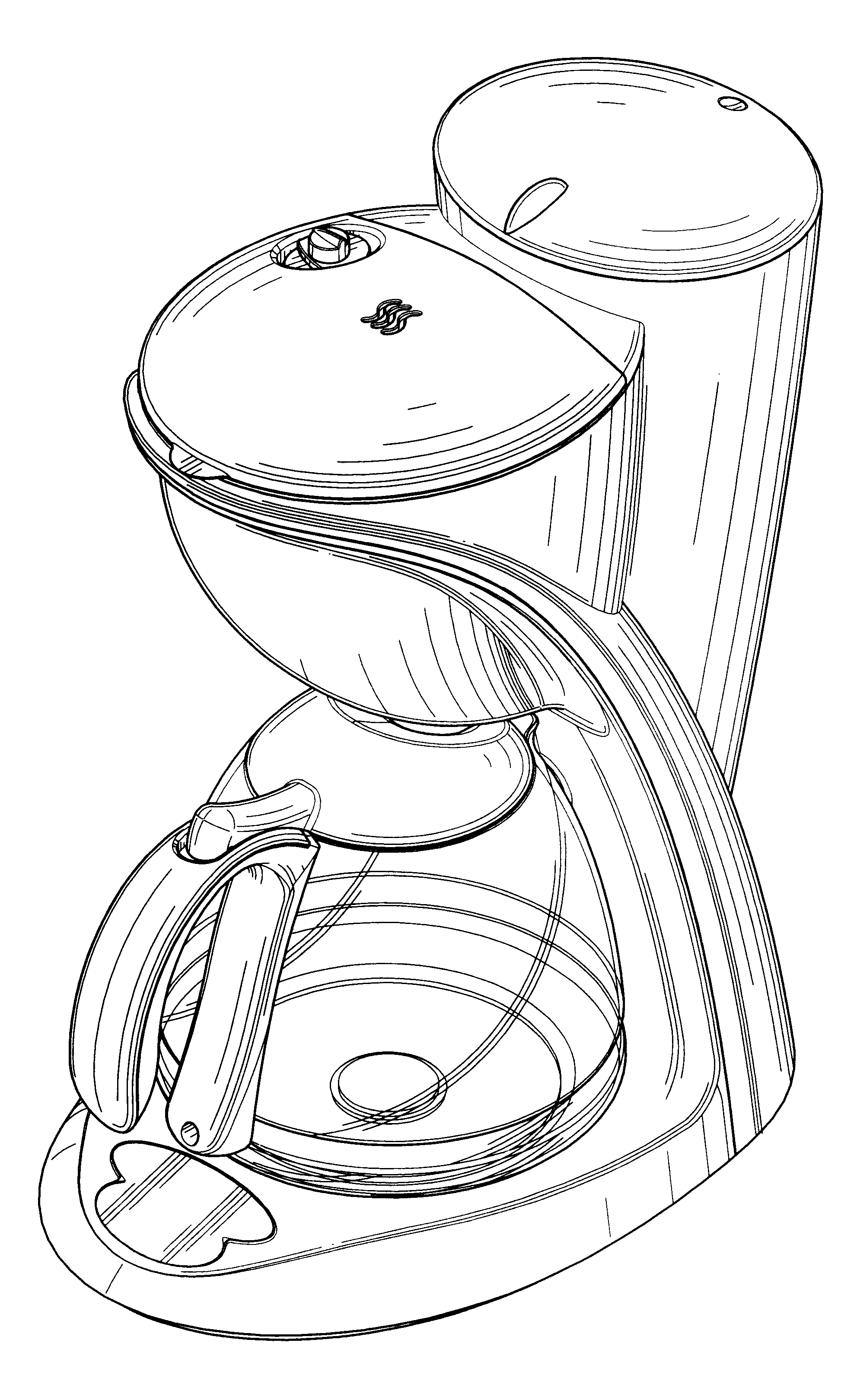 1983x3241 Coffee Maker Drawing