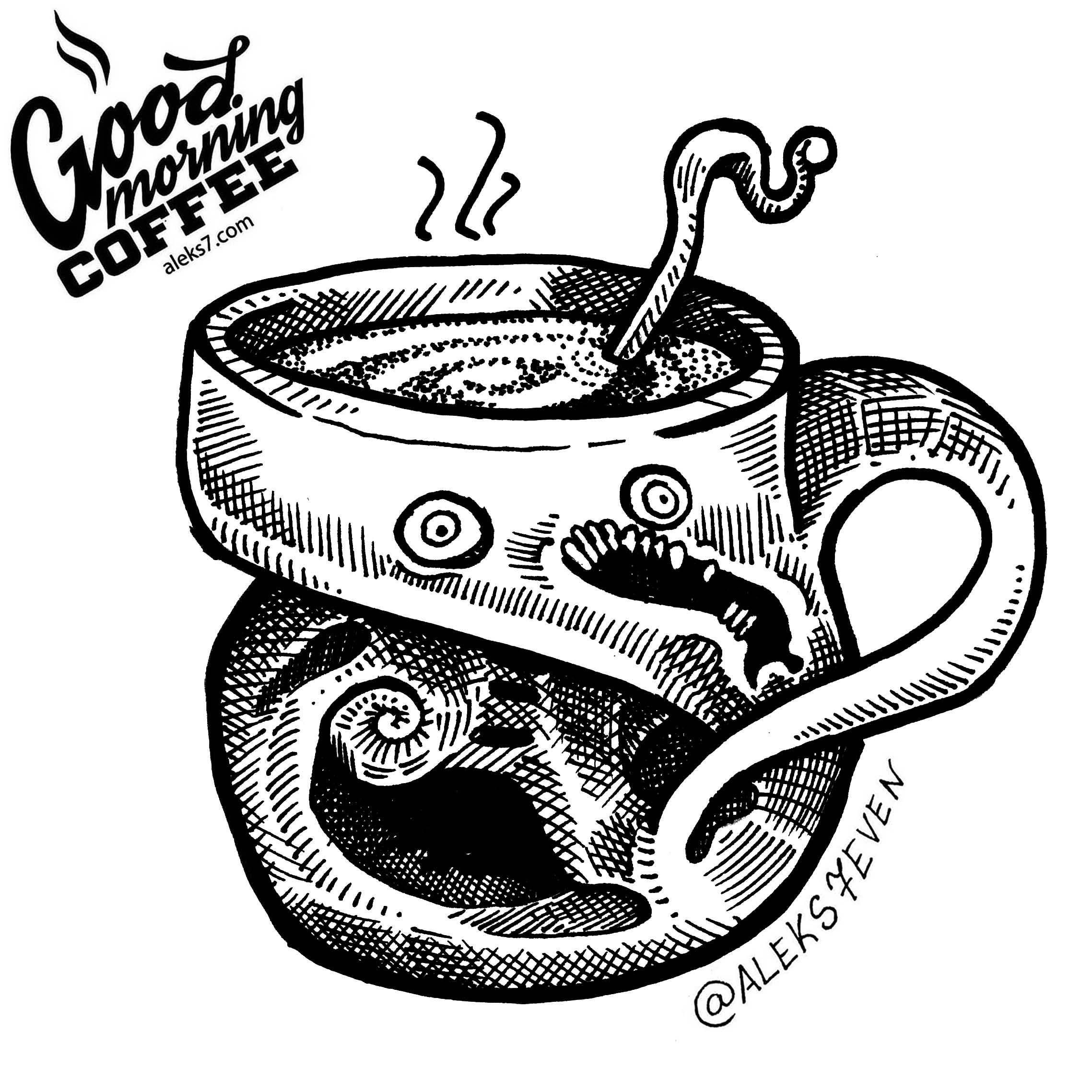 2277x2277 Daily Coffee Mug Drawings 167 Days