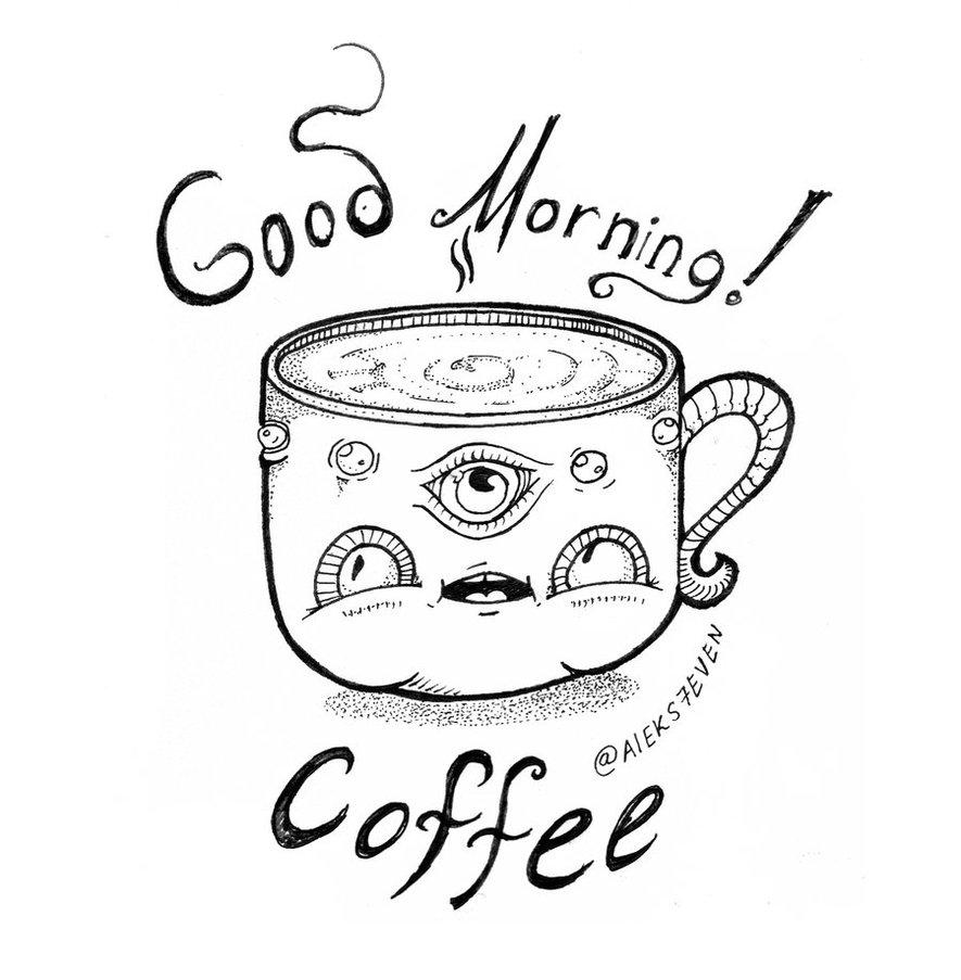 885x903 Good Morning Coffee Mug 2 By Chib