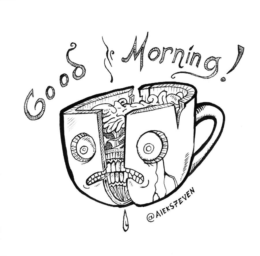900x887 Good Morning Coffee Mug By Chib