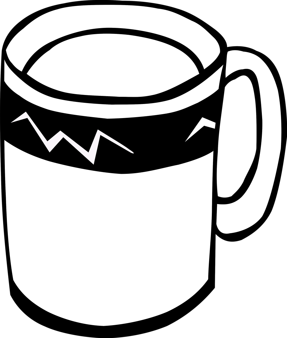 958x1128 Mug Free Stock Photo Illustration Of A Coffee Mug