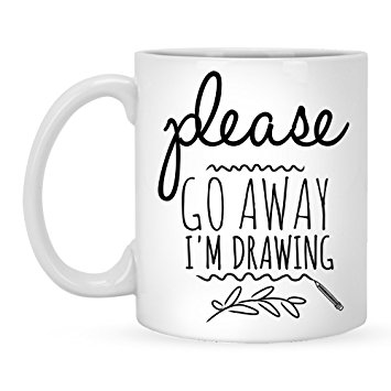 355x355 Please Go Away I'M Drawing