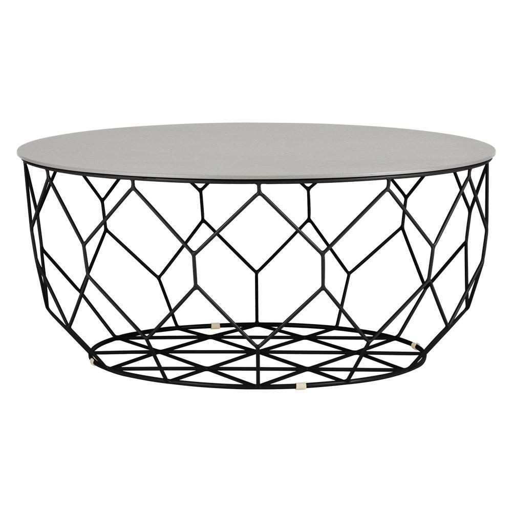 1000x1000 Bolia Comb Round Coffee Table Black Frame Large Houseology