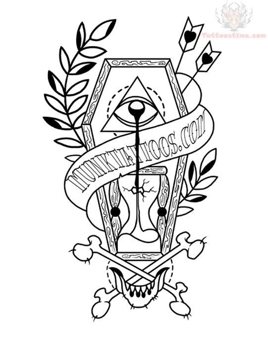 541x700 Coffin Sample Tattoo Design Coffin Tattoo Designs