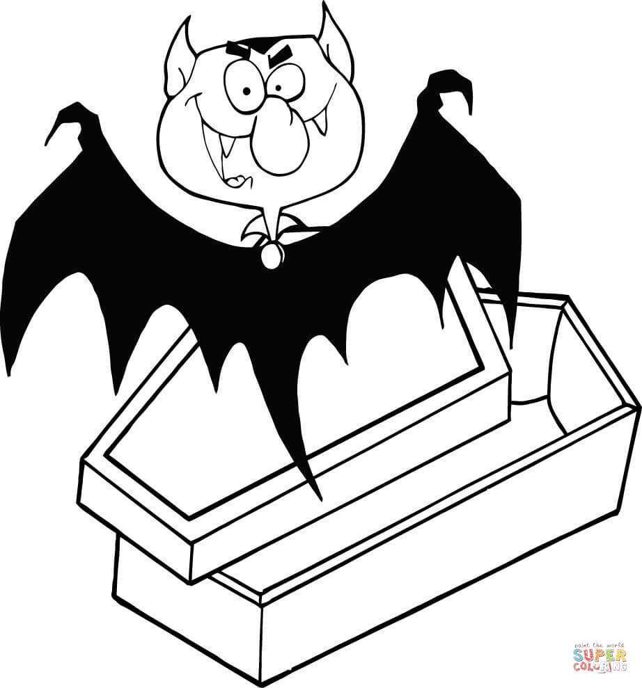 922x989 Count Dracula Out Of The Coffin Coloring Page Free Printable