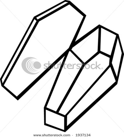 424x470 Drawing Of A Coffin