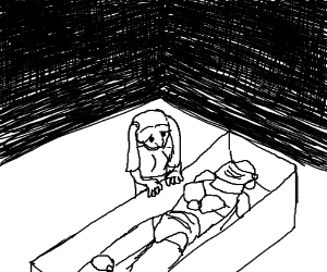 300x250 Little Girl Finds A Dead Knight In A Coffin.