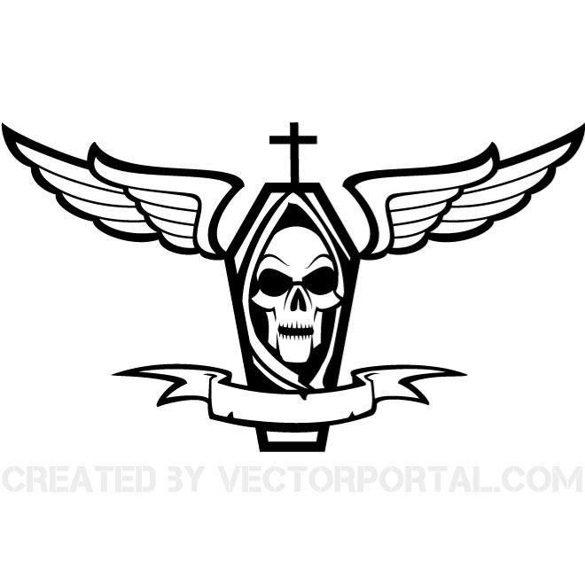 660x660 Coffin Vector Graphics