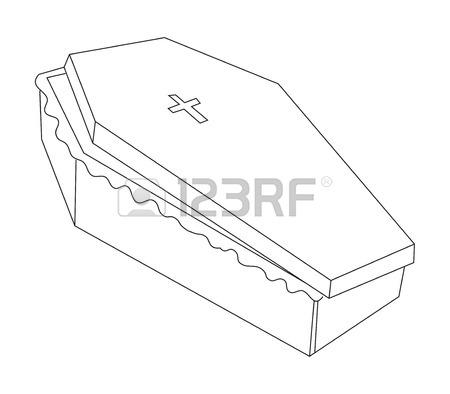 450x394 Cartoon Image Of Spooky Coffin Royalty Free Cliparts, Vectors,