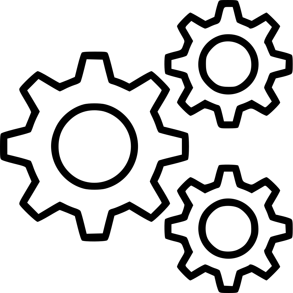 981x980 Cog Cogs Gear Gears Mechanism Preferences Settings Svg Png Icon