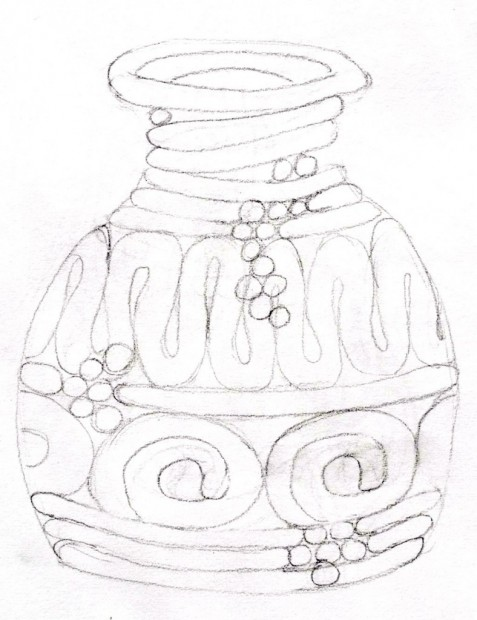 477x620 Red Ceramic Coil Pot