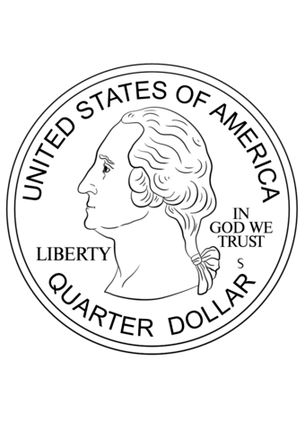 340x480 Quarter Coin Coloring Page Free Printable Coloring Pages