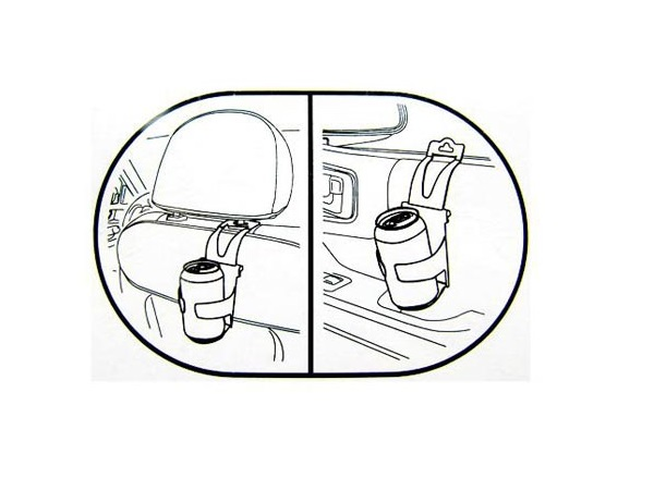 600x450 Auto Car Vehicle Door Headrest Back Seat Drink Bottle