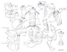 236x182 Water Bottle Sketch