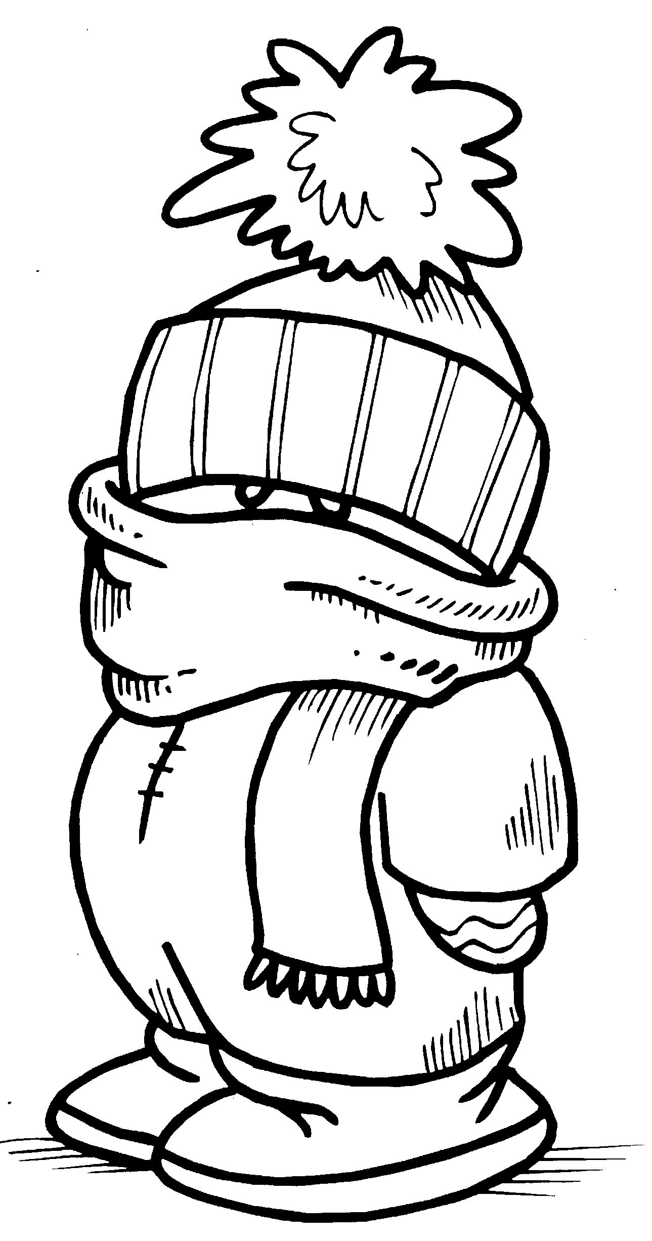 Cold weather drawing at free for for Cold weather coloring pages