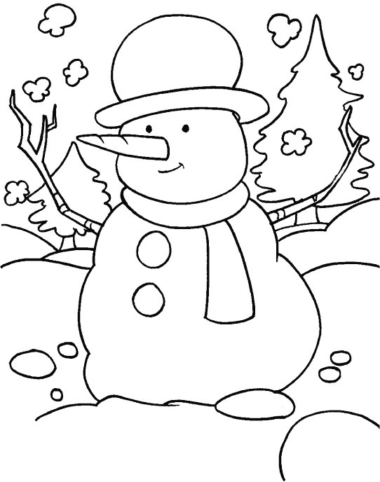 542x688 Cold Weather Coloring Pages