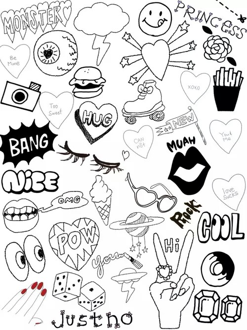 500x667 Tumblr Collage Tumblr Collages Collage, Doodles