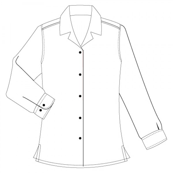 600x600 Girls Revere Collar White Blouse