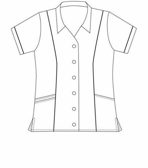 472x538 Landau Women's Student Tunic Scrub Top With Collar 8047 Medical